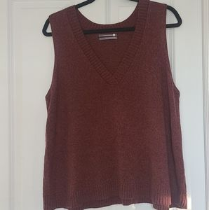 Anthropologie Brown Sweater Vest Size Large
